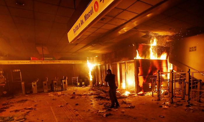 Reporte de la revuelta proletaria en Santiago (19/10/2019)