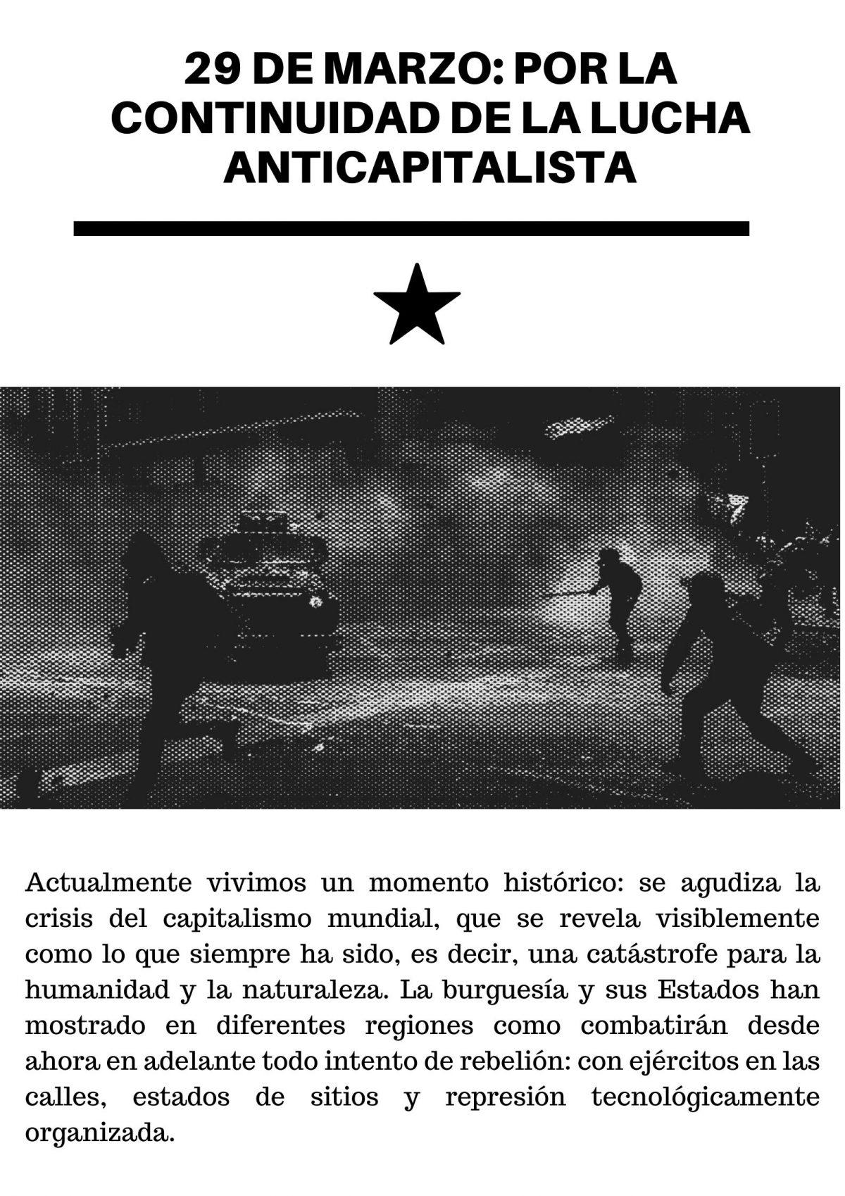 29 de marzo: por la continuidad de la lucha anticapitalista [panfleto]
