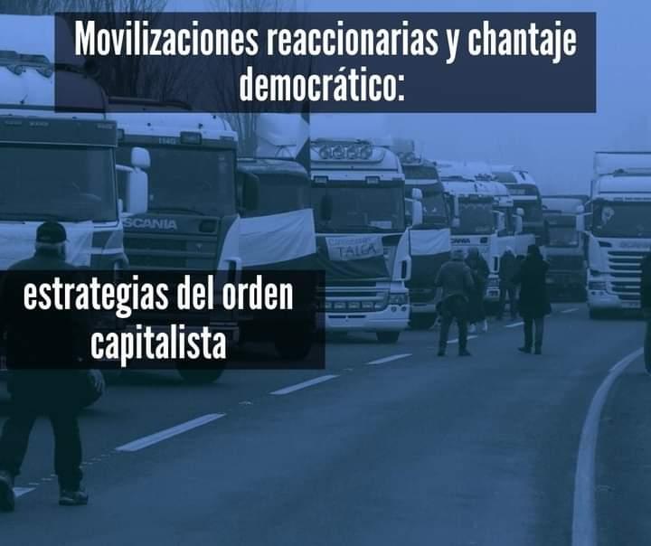 Movilizaciones reaccionarias y chantaje democrático: estratégias del orden capitalista