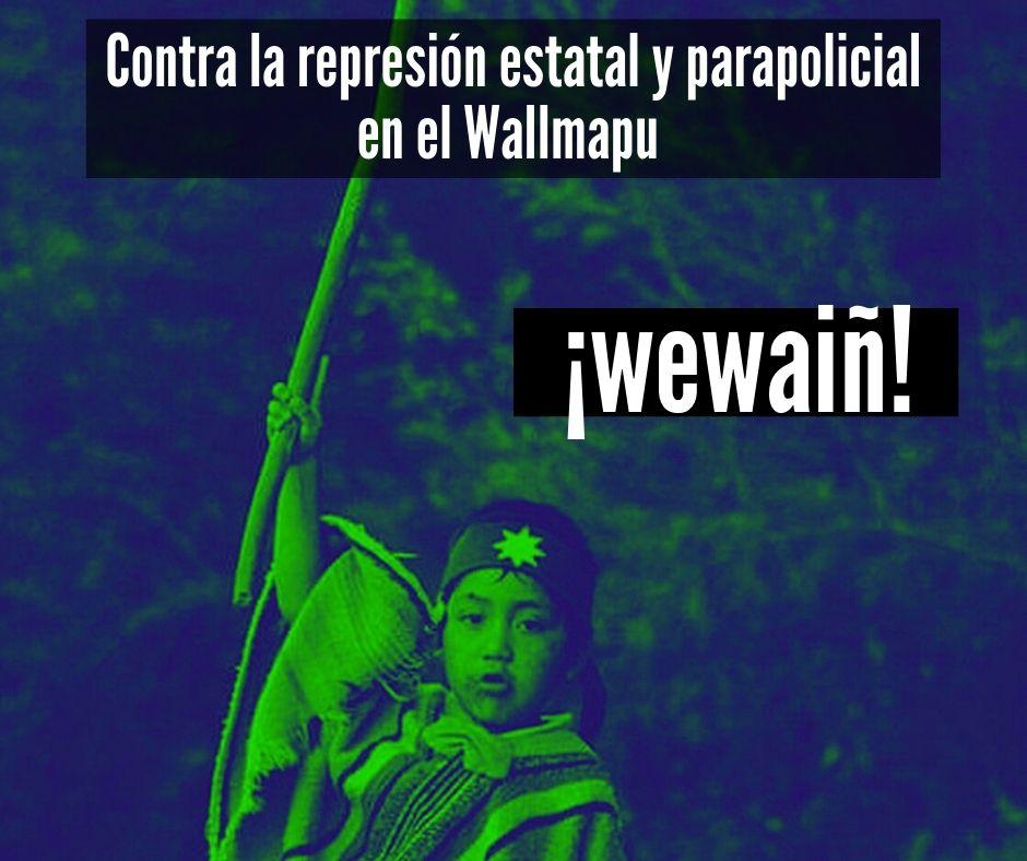 Contra la represión estatal y parapolicial en el Wallmapu